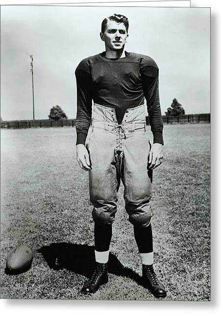Notre Dame Football Greeting Cards - Ronald Reagan in Knute Rocke - All American 1940 Greeting Card by Warner Bros