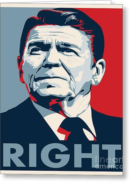 Conservative Digital Art Greeting Cards - Ronald Reagan Greeting Card by John L
