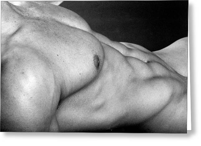 Erotic Nude Male Greeting Cards - Ronan Torso Greeting Card by Thomas Mitchell