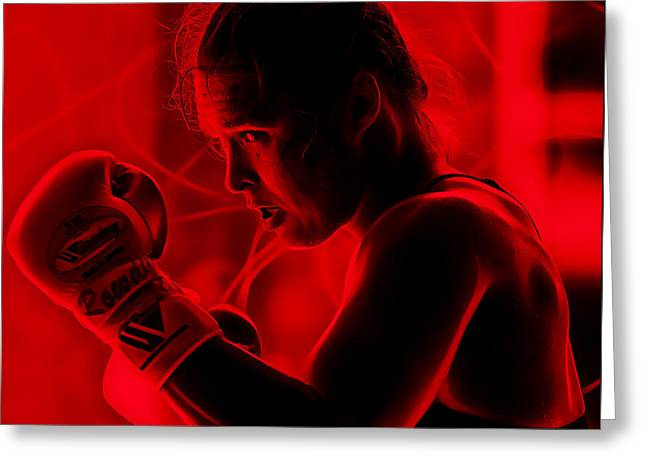 Ronda Jean Rousey Mma Greeting Card by Marvin Blaine