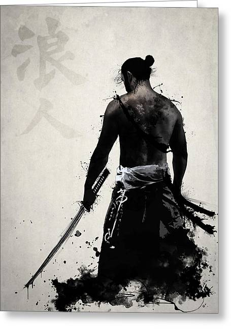 Illustration Greeting Cards - Ronin Greeting Card by Nicklas Gustafsson