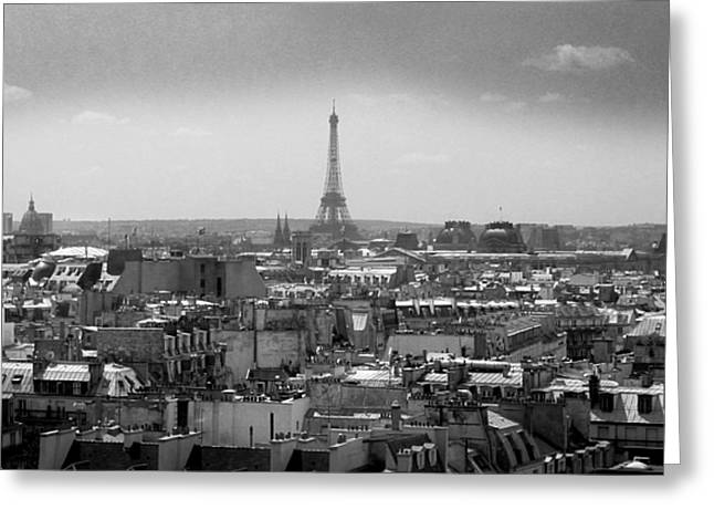 Roof of Paris. France Greeting Card by BERNARD JAUBERT
