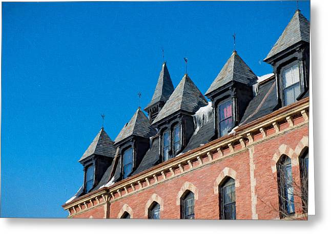 Police District Greeting Cards - Rooftop Ice in Jamaica Plain MA Greeting Card by Thomas Logan