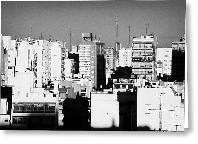 Conformity Greeting Cards - Rooftops And Apartment Blocks In The Evening Buenos Aires Skyline Argentina Greeting Card by Joe Fox