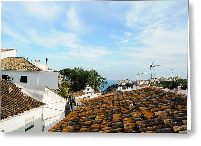 Southern Province Greeting Cards - Rooftops Of Andalucian Town Greeting Card by Tetyana Kokhanets