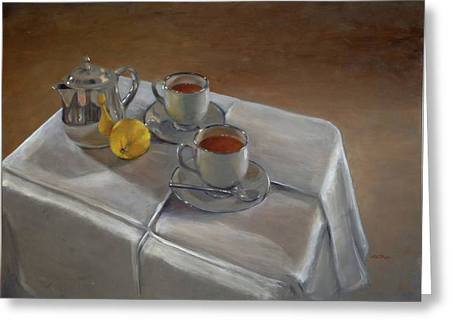 Rooibos For Two Greeting Card by Christopher Reid