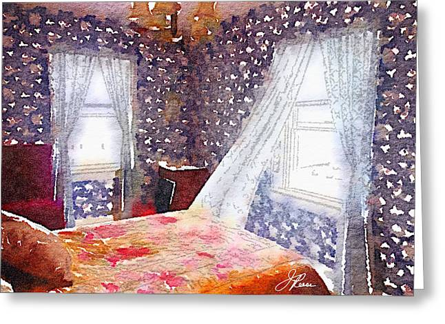 Reading By Window Greeting Cards - Room 803 Greeting Card by Joan Reese