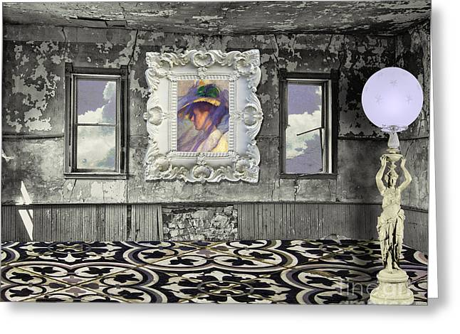 Abandoned Houses Greeting Cards - Room in the Sky Greeting Card by Mindy Sommers