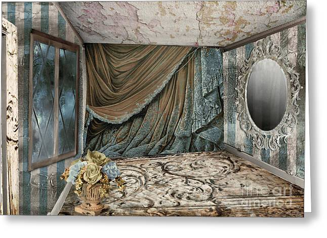 Abandoned Building Greeting Cards - Room of Dreaming Greeting Card by Mindy Sommers