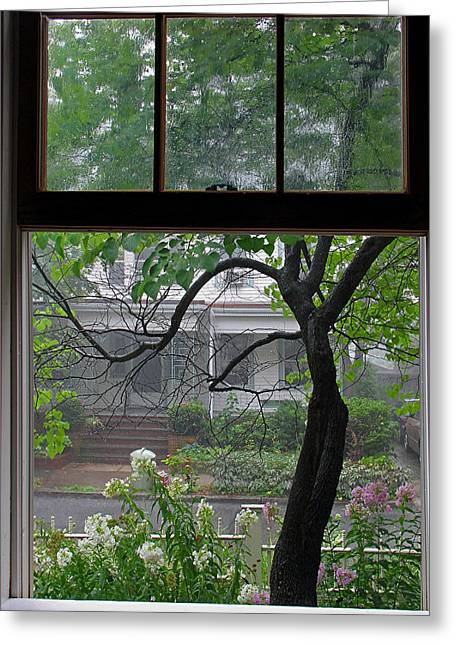 Room With A Rainy View Greeting Card by Juergen Roth