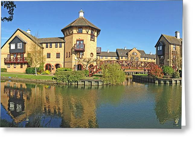 Reflections In River Greeting Cards - Rooms With A View Greeting Card by Gill Billington