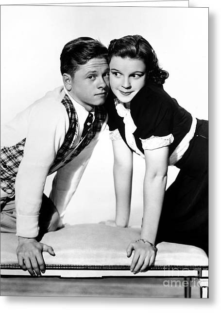 Teenage Photographs Greeting Cards - Rooney And Garland, 1938 Greeting Card by Granger