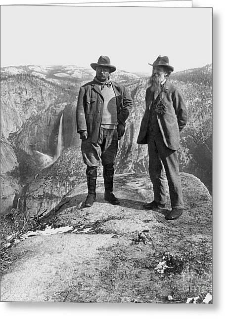 Roosevelt & Muir Greeting Card by Granger
