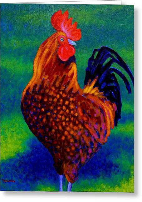 Cocks Greeting Cards - Rooster Greeting Card by John  Nolan