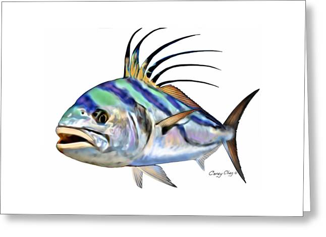 Roosterfish Digital Greeting Card by Carey Chen
