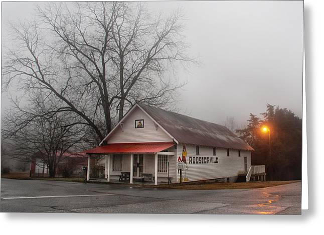 Streetlight Greeting Cards - Roosterville Greeting Card by Clayton Brandenburg