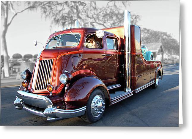Cruisin For A Cure Greeting Cards - Root Beer Hauler Greeting Card by Bill Dutting