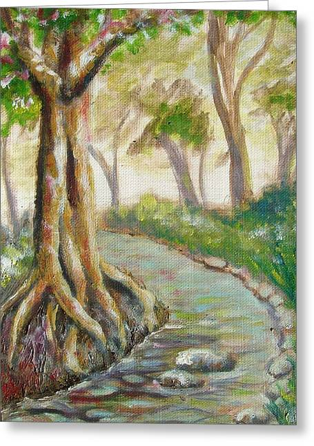 Tree Roots Paintings Greeting Cards - Root Canal Greeting Card by George I Perez