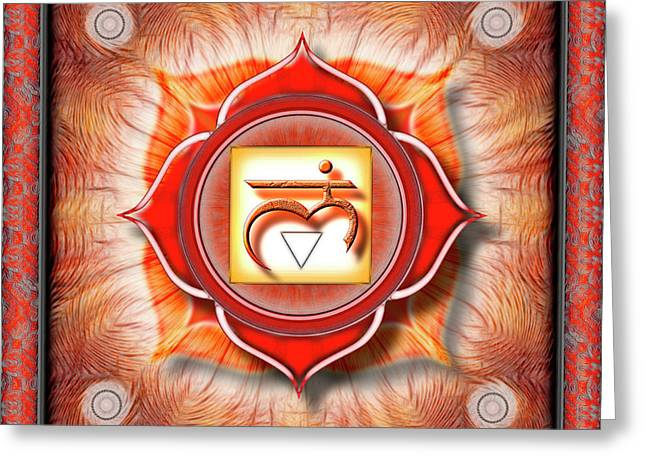 Root Chakra - Series 1 Greeting Card by Dirk Czarnota