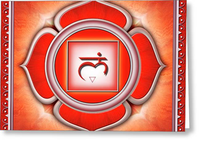Root Chakra - Series 2 Greeting Card by Dirk Czarnota