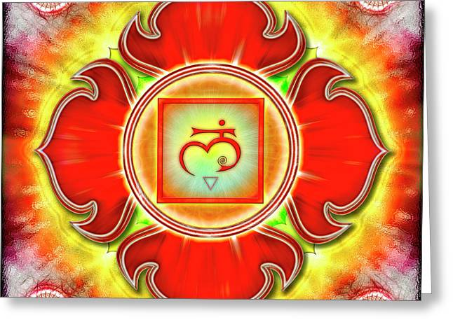 Root Chakra - Series 3 Greeting Card by Dirk Czarnota