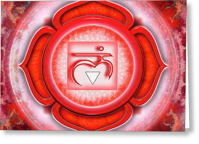Root Chakra - Series 5 Greeting Card by Dirk Czarnota