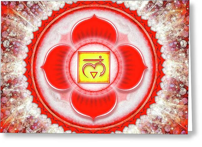 Root Chakra - Series 6 Greeting Card by Dirk Czarnota