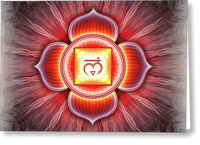 Root Chakra - Series 4 Greeting Card by Dirk Czarnota