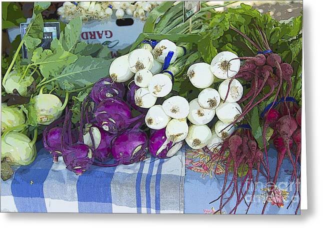 French Open Paintings Greeting Cards - Root Vegetables Greeting Card by Jeanette French