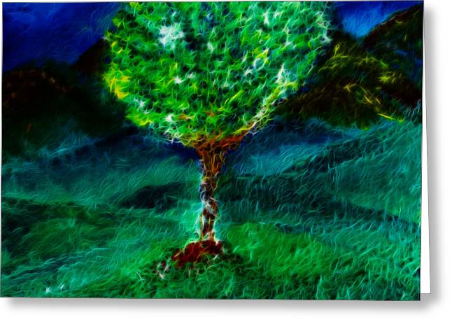 Tree Roots Mixed Media Greeting Cards - Roots Digital Greeting Card by Melinda Firestone-White