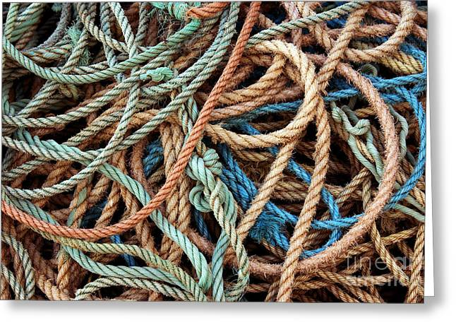 Thick Greeting Cards - Rope Background Greeting Card by Carlos Caetano