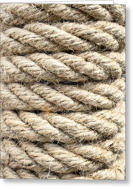Constricting Greeting Cards - Rope detail Greeting Card by Tom Gowanlock