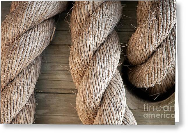 Rope In A Hole Greeting Card by Dan Holm