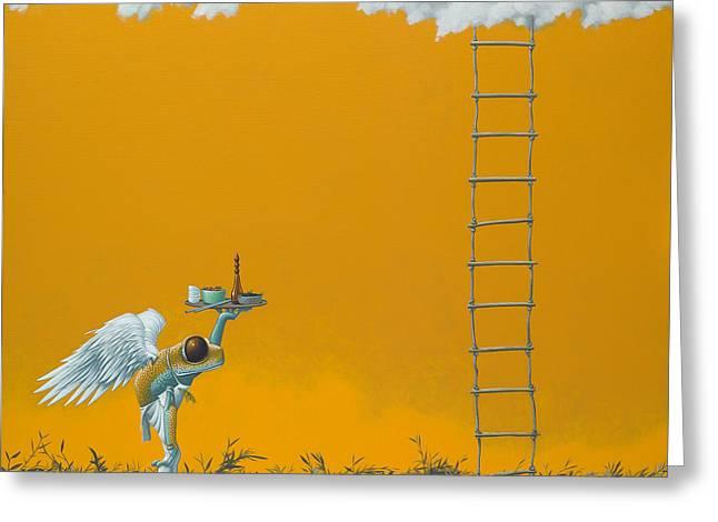 Rope Ladder Greeting Card by Jasper Oostland