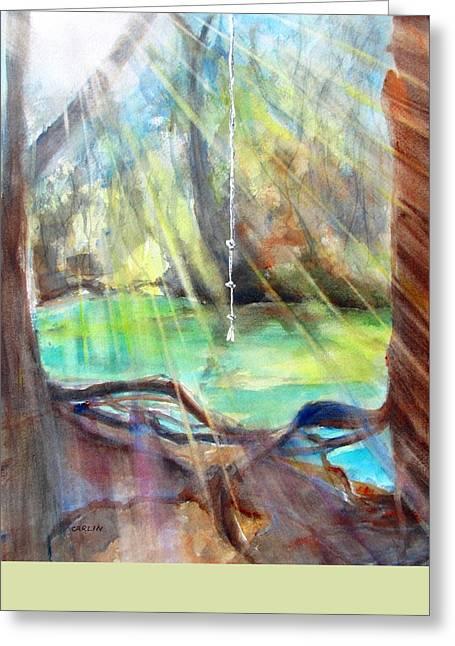 Rope Swing Greeting Card by Carlin Blahnik