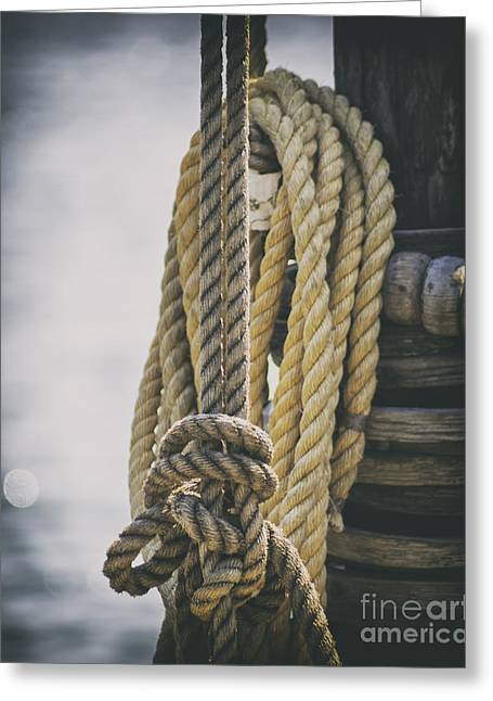 Sailboat Images Greeting Cards - Roped Off Greeting Card by Joe Geraci