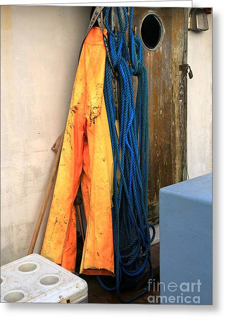 Ropes And Overalls Greeting Card by Adam Jewell