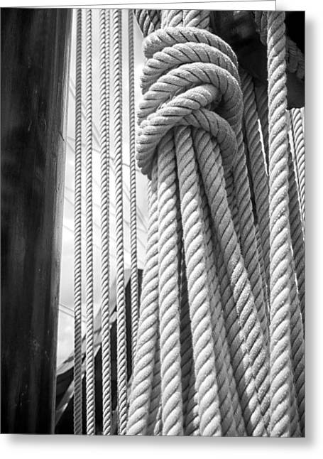 Ocean Sailing Greeting Cards - Ropes From the Past Greeting Card by Bob Decker