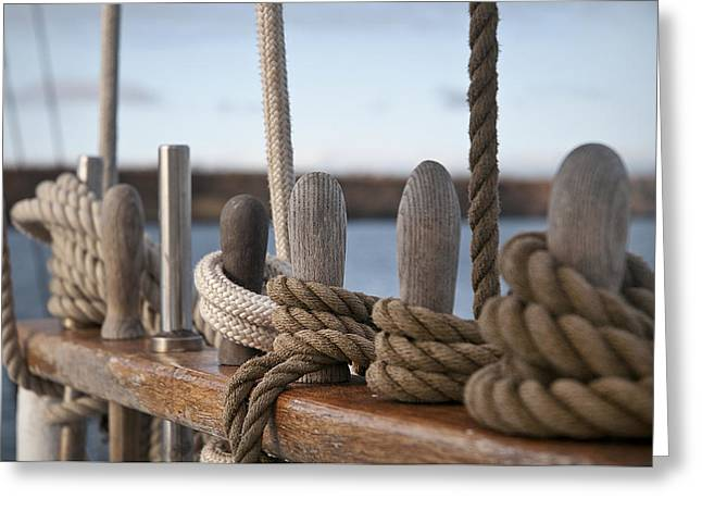 Masts Greeting Cards - Ropes Greeting Card by MAK Imaging