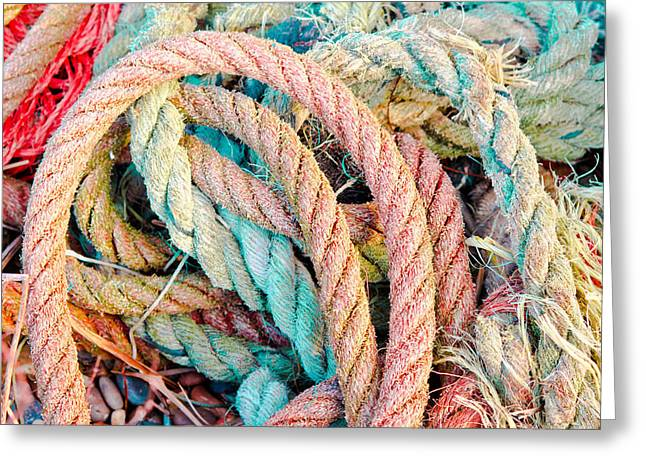 Safety Gear Greeting Cards - Ropes Greeting Card by Tom Gowanlock