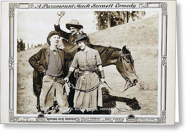 Roping Her Romeo 1919 Greeting Card by Mountain Dreams