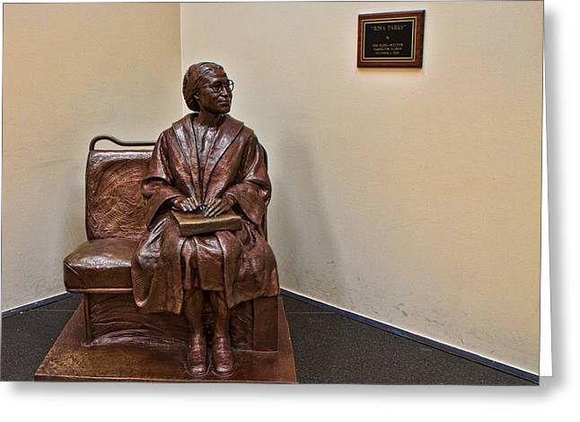 Civil Rights Greeting Cards - Rosa Parks Sculpture Greeting Card by Dr Arnold Hence
