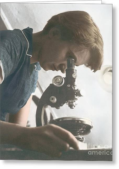 Ovarian Cancer Greeting Cards - Rosalind Franklin, English X-ray Greeting Card by Science Source