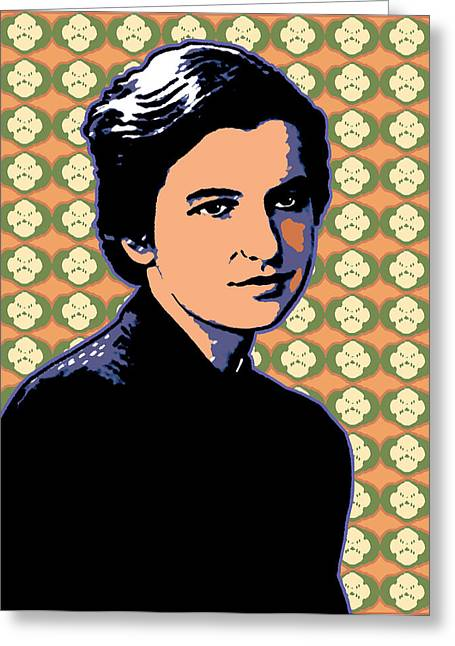 Recently Sold -  - Helix Greeting Cards - Rosalind Franklin Greeting Card by Linda Ruiz-Lozito