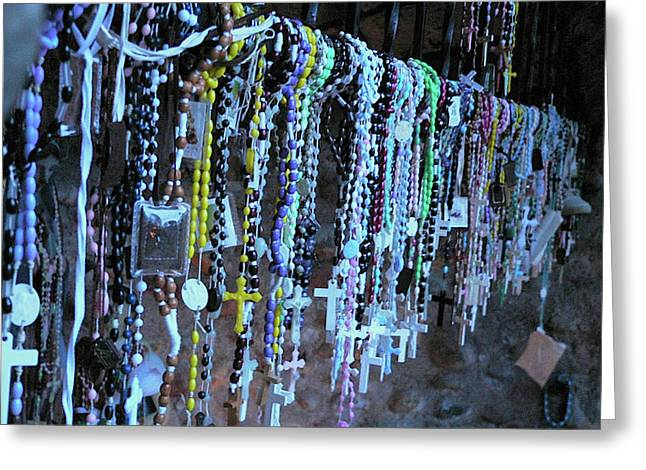 Rosary Greeting Card by Angela Wright