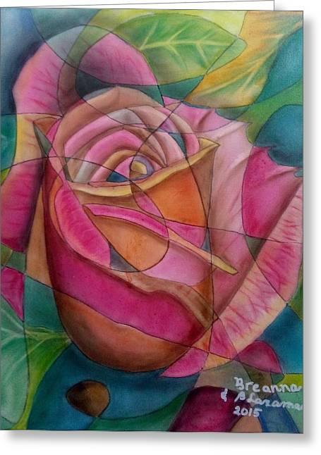 Collaborative Greeting Cards - Rose 4 Greeting Card by Benedicto  Laxamana
