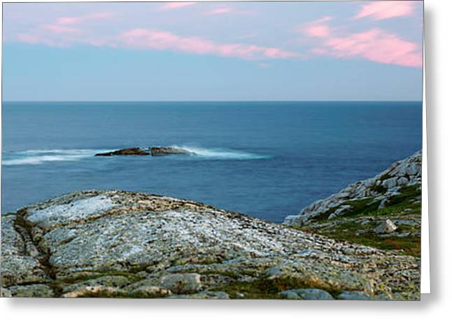 Blanche Greeting Cards - Rose Blanche Lighthouse At Coast Greeting Card by Panoramic Images