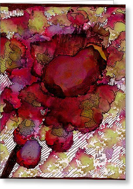 Survivor Art Greeting Cards - Rose Deep Greeting Card by Angela L Walker