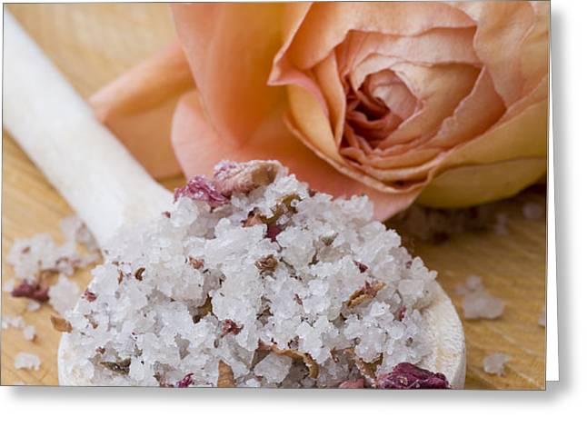 Rose-flavored sea salt Greeting Card by Frank Tschakert