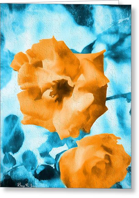 Barry Styles Greeting Cards - Rose Fresco - Floral Greeting Card by Barry Jones